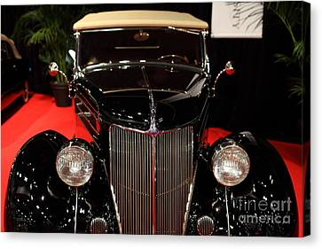 1936 Ford Deluxe Roadster - 5d19964 Canvas Print by Wingsdomain Art and Photography