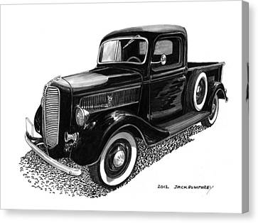 1937 Ford Pick Up Truck Canvas Print by Jack Pumphrey