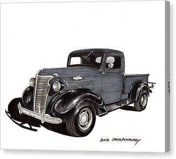 1938 Chevy Pickup Canvas Print by Jack Pumphrey