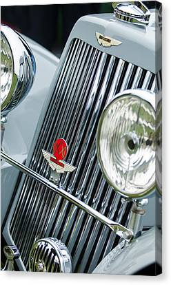 1939 Aston Martin 15-98 Abbey Coachworks Swb Sports Grille Emblems Canvas Print by Jill Reger
