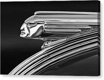 1939 Pontiac Silver Streak Hood Ornament 3 Canvas Print by Jill Reger