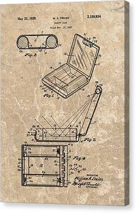 1939 Vanity Case Patent Canvas Print by Dan Sproul