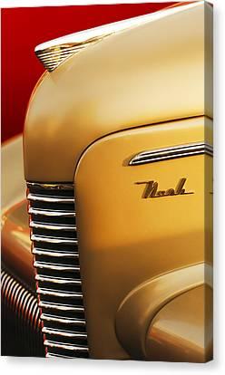 1940 Nash Sedan Grille Canvas Print by Jill Reger