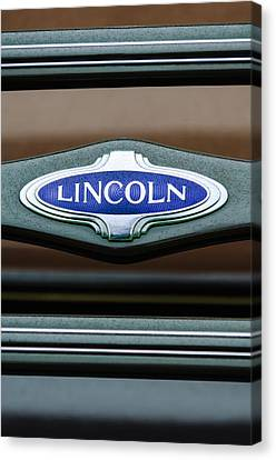 1941 Lincoln Emblem Canvas Print by Jill Reger