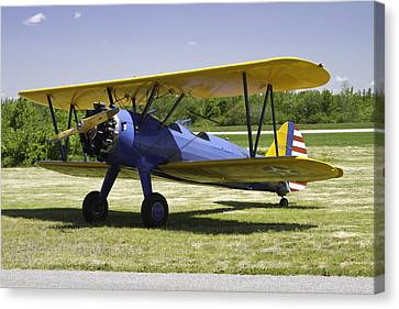 1941 Stearman A75n1 Biplane Airplane  Canvas Print by Keith Webber Jr