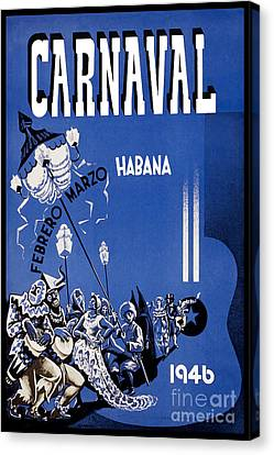 1946 Carnaval Vintage Travel Poster Canvas Print by Jon Neidert
