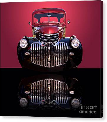 1946 Chevy Panel Truck Canvas Print by Jim Carrell