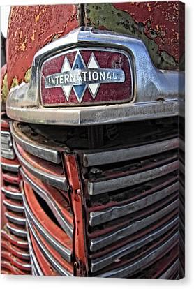 1946 International Harvester Truck Grill Canvas Print by Daniel Hagerman