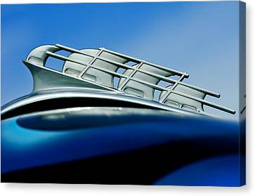1946 Plymouth Hood Ornament Canvas Print by Jill Reger