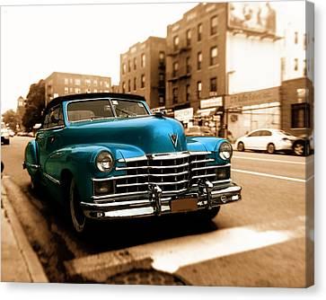 1947 Cadillac Convertible Canvas Print by Jon Woodhams