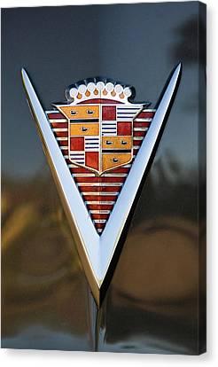 1947 Cadillac Emblem Canvas Print by Jill Reger
