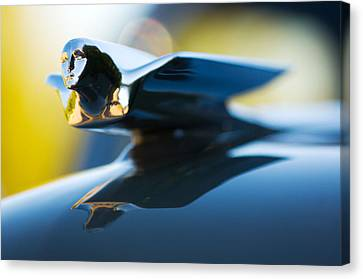 1947 Cadillac Model 62 Coupe Hood Ornament Canvas Print by Jill Reger