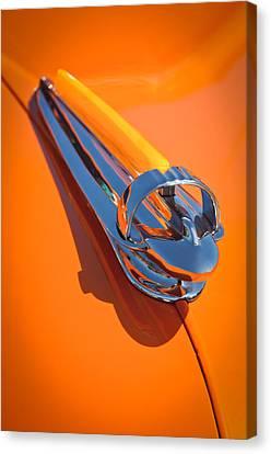 1947 Chevrolet Deluxe Hood Ornament Canvas Print by Jill Reger