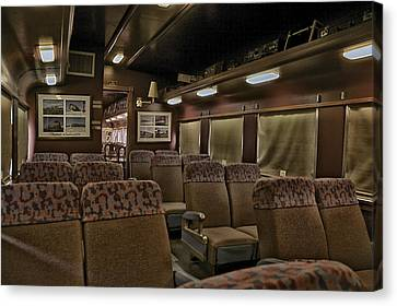 1947 Pullman Railroad Car Interior Seating Canvas Print by Thomas Woolworth
