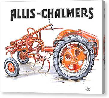 1948 Allis Chalmers-g Canvas Print by Shannon Watts