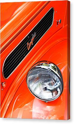 1948 Anglia 2-door Sedan Grille Emblem Canvas Print by Jill Reger