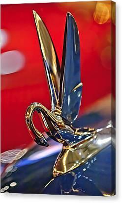 1948 Packard Hood Ornament Canvas Print by Jill Reger