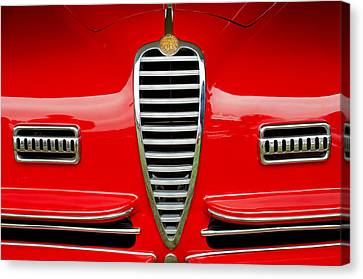 1949 Alfa Romeo 6c 2500 Ss Pininfarina Cabriolet Grille Canvas Print by Jill Reger