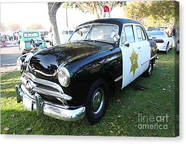 1949 Ford Police Car 5d26229 Canvas Print by Wingsdomain Art and Photography