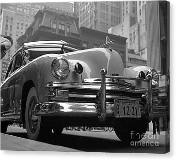 1949 Kaiser Deluxe Modified To Serve As An Ambulance Canvas Print by The Phillip Harrington Collection