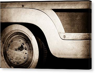 1949 Mercury Station Woodie Wagon Wheel Emblem Canvas Print by Jill Reger