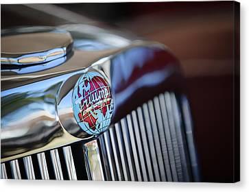 1949 Triumph 2000 Roadster Grille Emblem -0681c Canvas Print by Jill Reger