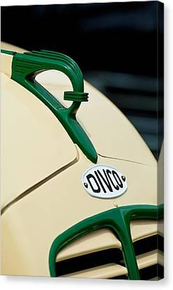 1950 Divco Milk Truck Hood Ornament Canvas Print by Jill Reger