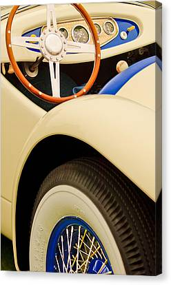 1950 Eddie Rochester Anderson Emil Diedt Roadster Steering Wheel Canvas Print by Jill Reger
