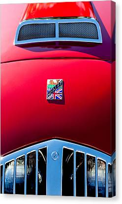 1950 Healey Silverston Sports Roadster Emblem Canvas Print by Jill Reger