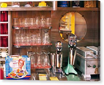 1950's - Diner - A 1950's Diner Canvas Print by Mike Savad