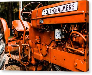 1950s-vintage Allis-chalmers D14 Tractor Canvas Print by Jon Woodhams
