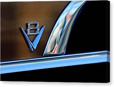 1951 Ford Crestliner V8 Emblem Canvas Print by Jill Reger