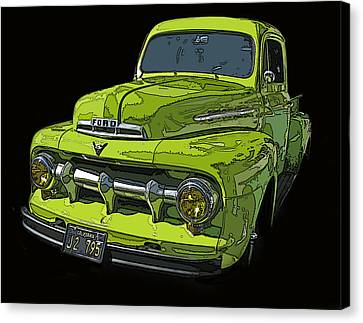 1951 Ford Pickup Truck Canvas Print by Samuel Sheats