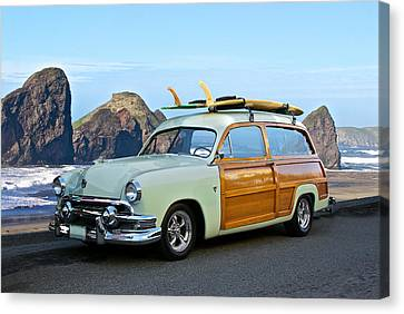1951 Ford 'woody' Wagon Canvas Print by Dave Koontz