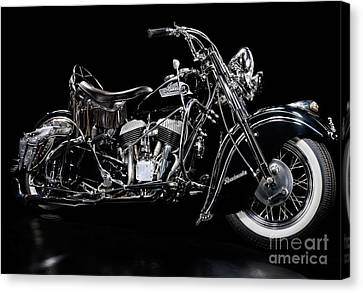 1951 Indian Chief Blackhawk Canvas Print by Frank Kletschkus