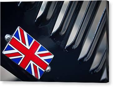 1951 Jaguar Proteus C-type British Emblem Canvas Print by Jill Reger