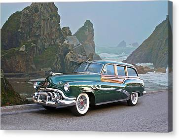 1952 Buick 'woody' Estate Wagon Canvas Print by Dave Koontz