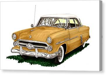 1952 Ford Victoria Canvas Print by Jack Pumphrey