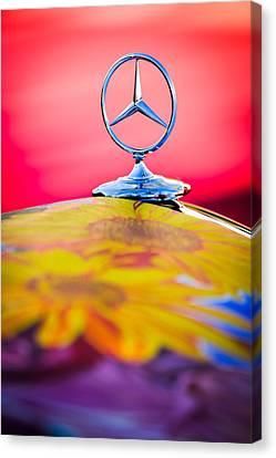 1952 Mercedes-benz 220 A Cabriolet Hood Ornament Canvas Print by Jill Reger
