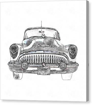 1953 Buick Roadmaster Fe Canvas Print by Edward Fielding