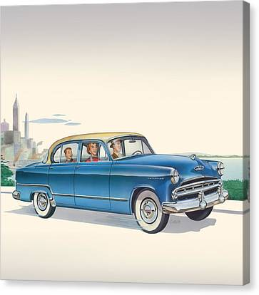 1953 Dodge Coronet - Square Format Image Canvas Print by Walt Curlee