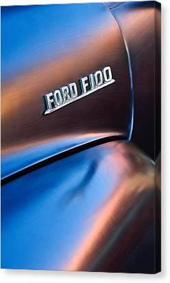 1953 Ford F100 Pickup Truck Emblem Canvas Print by Jill Reger