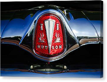 1953 Hudson Hornet Sedan Emblem Canvas Print by Jill Reger