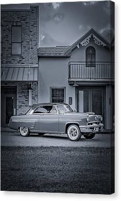 1953 Mercury Monterey Bw 5 Canvas Print by David Morefield