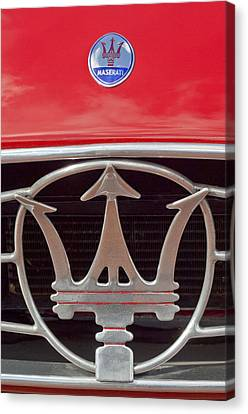 1954 Maserati A6 Gcs Emblem Canvas Print by Jill Reger