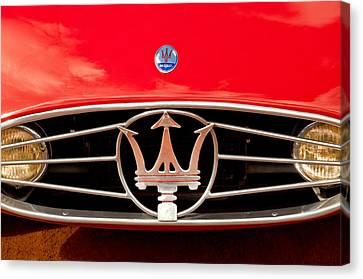 1954 Maserati A6 Gcs Grille Emblem -0259c Canvas Print by Jill Reger