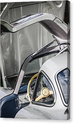 1954 Mercedes-benz 300sl Gullwing Steering Wheel -1653c Canvas Print by Jill Reger