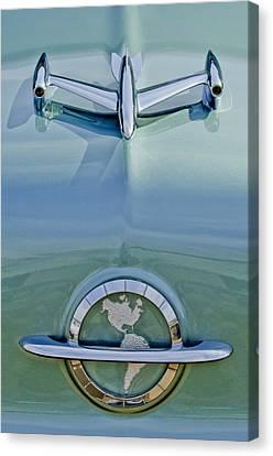 1954 Oldsmobile Super 88 Hood Ornament Canvas Print by Jill Reger