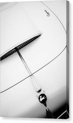1954 Pegaso Z-102 Saoutchik Coupe Hood Emblem -0583bw Canvas Print by Jill Reger