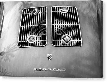1954 Porsche Spyder Rear Emblem -0042bw Canvas Print by Jill Reger